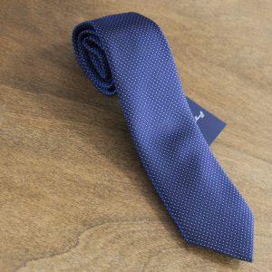 Cravatta a pois fondo blu mod. 003