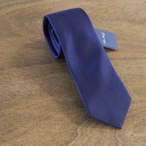 Cravatta a pois fondo blu mod. 004
