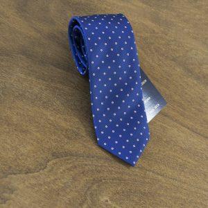 Cravatta a pois fondo blu mod. 130