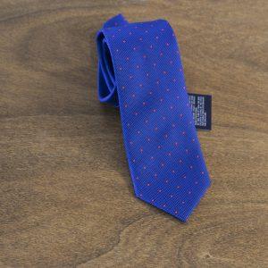 Cravatta a pois fondo azzurro mod. 133