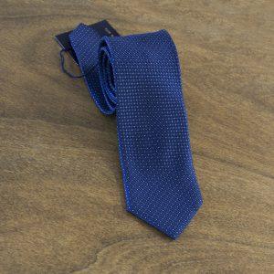 Cravatta a pois fondo blu mod. 134