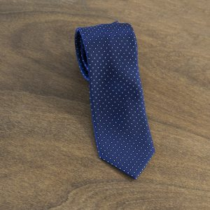 Cravatta a pois fondo blu mod. 135