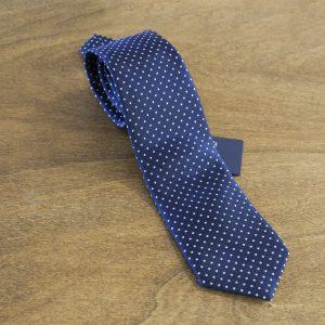 Cravatta a pois fondo blu mod. 013