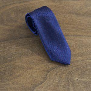 Cravatta a pois fondo blu mod. 172