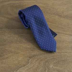 Cravatta a pois fondo blu mod. 173