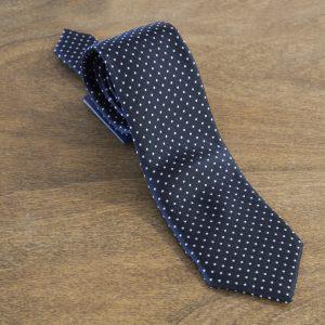 Cravatta a pois fondo nero mod. 017