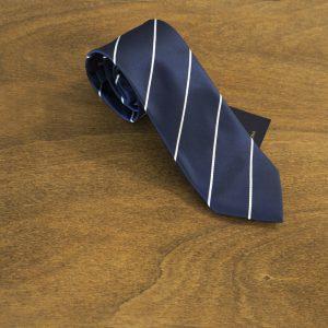 Cravatta a righe fondo blu mod. 182