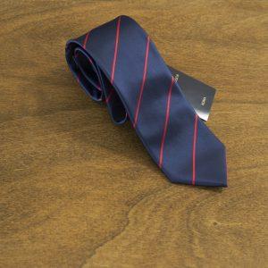 Cravatta a righe fondo blu mod. 183