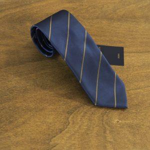 Cravatta a righe fondo blu mod. 184