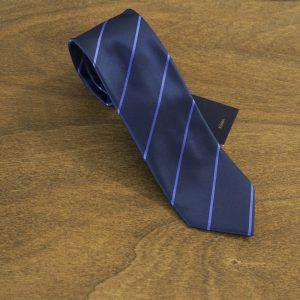 Cravatta a righe fondo blu mod. 186