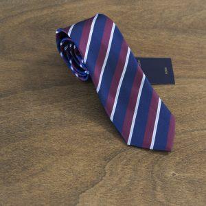 Cravatta a righe fondo blu mod. 188