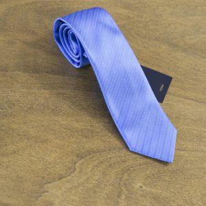 Cravatta a righe fondo azzurro mod. 190