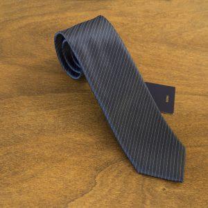 Cravatta a righe fondo blu mod. 192