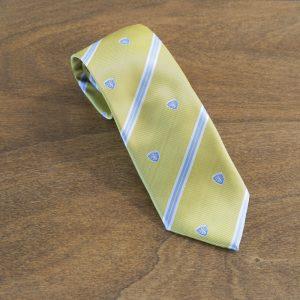 Cravatta a righe fondo giallo mod. 197