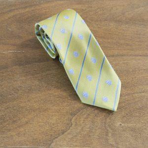 Cravatta a righe fondo giallo mod. 199