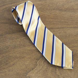 Cravatta a righe fondo giallo mod. 286