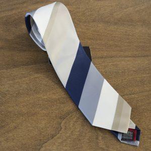 Cravatta a righe fondo blu mod. 287