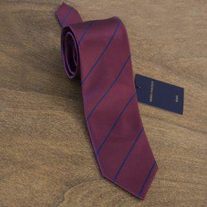 Cravatta a righe fondo bordeaux mod. 085