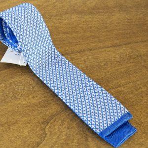 Cravatta in maglina fantasia fondo celeste mod. 321